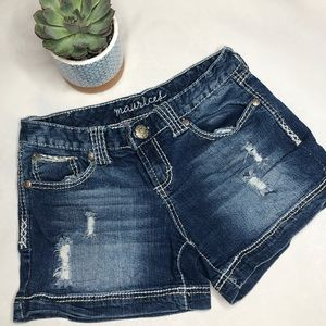 Maurice's // Distressed Shorts